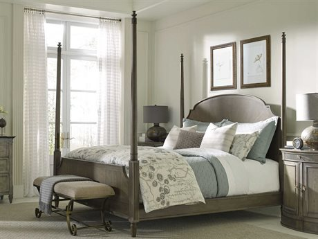 American Drew Savona Sofia Maple and Elm King Poster Bed