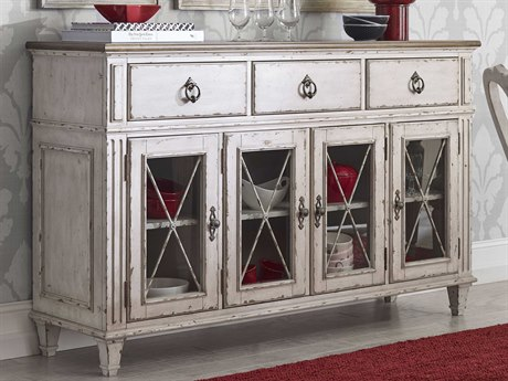 American Drew Southbury White Parchment with Warm Fossil on Top 68''L x 19''W Sideboard AD513857