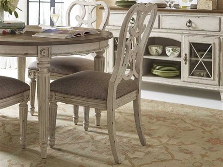American Drew Southbury White Parchment Cortona Dining Side Chair (Sold in 2) AD513636