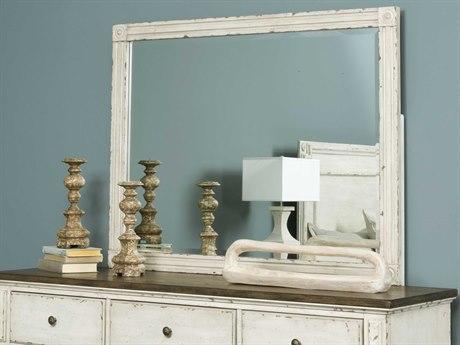 American Drew Southbury White Parchment 48''W x 38''H Rectangular Dresser Mirror AD513030