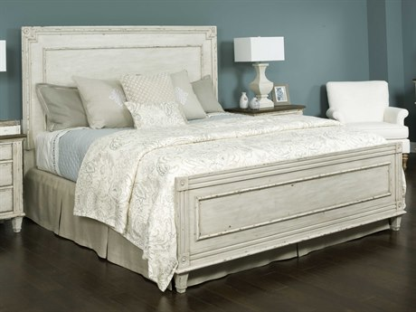 American Drew Southbury White Parchment King Size Panel Bed
