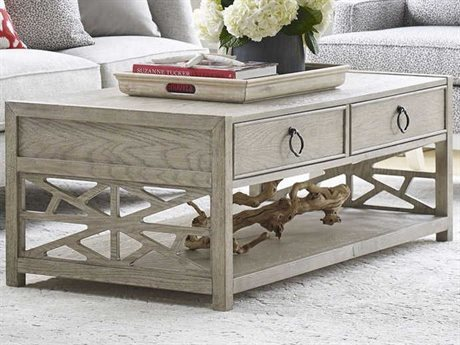 American Drew Vista Oyster 52'' Wide Rectangular Coffee Table