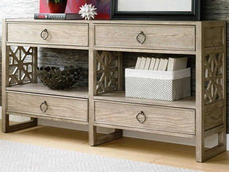 American Drew Vista Oyster 62'' Wide Rectangular Console Table AD803925