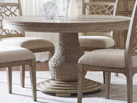 American Drew Vista Oyster 54'' Wide Round Dining Table ...