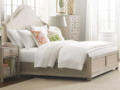 American Drew Vista Oyster Queen Panel Bed