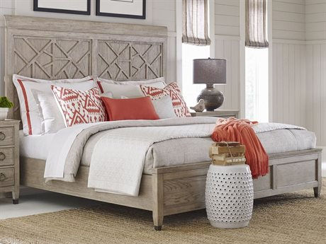 American Drew Vista Oyster King Panel Bed