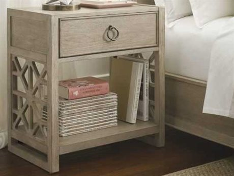 American Drew Vista Oyster 1 Drawer Nightstand