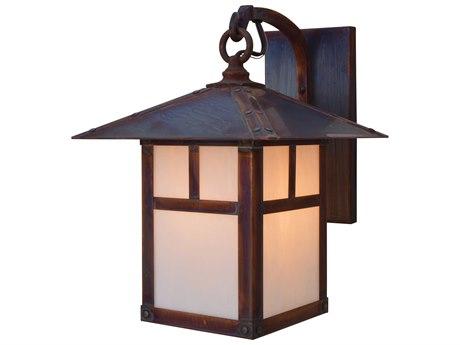 Arroyo Craftsman Evergreen 1-light Glass Outdoor Wall Light