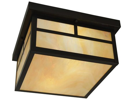 Arroyo Craftsman Mission 2-light Glass Outdoor Ceiling Light