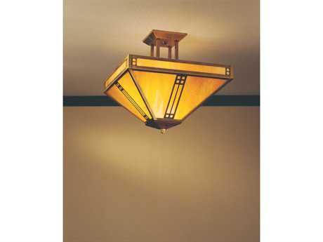 Arroyo Craftsman Prairie Four-Light Inverted Semi-Flush Mount Light AYPIH15