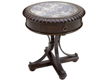 A.R.T. Furniture American Chapter Rye 26'' Wide Round Pedestal Table AT2473082936