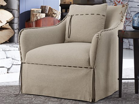A.R.T. Furniture American Chapter Upholstered Clear Natural Swivel Club Chair