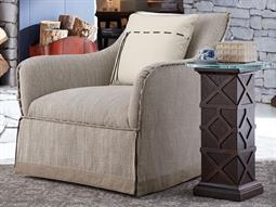 American Chapter Upholstered Clear Natural Swivel Club Chair