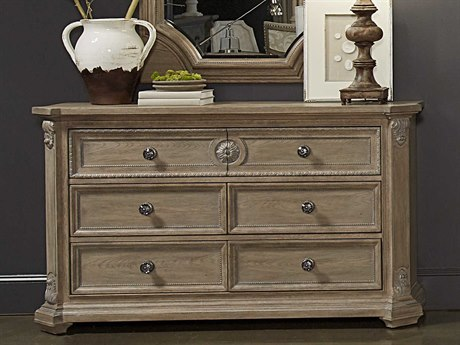 A.R.T. Furniture Arch Salvage Grayson Parch Six Drawers Double Dresser