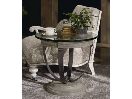 A.R.T. Furniture Arch Salvage Moss Mist 26'' Wide Round End Table AT2333632823