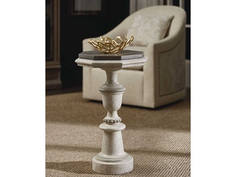 A.R.T. Furniture Arch Salvage Maggie Spot Cirrus & Mist 15'' Wide Octagon Pedestal Table