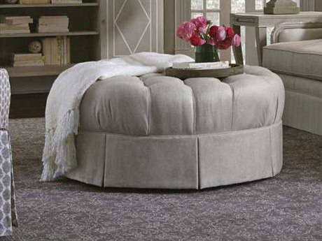 A.R.T. Furniture Ava Natural Grey Ottoman with Kick Pleat Skirt AT5135245001AA