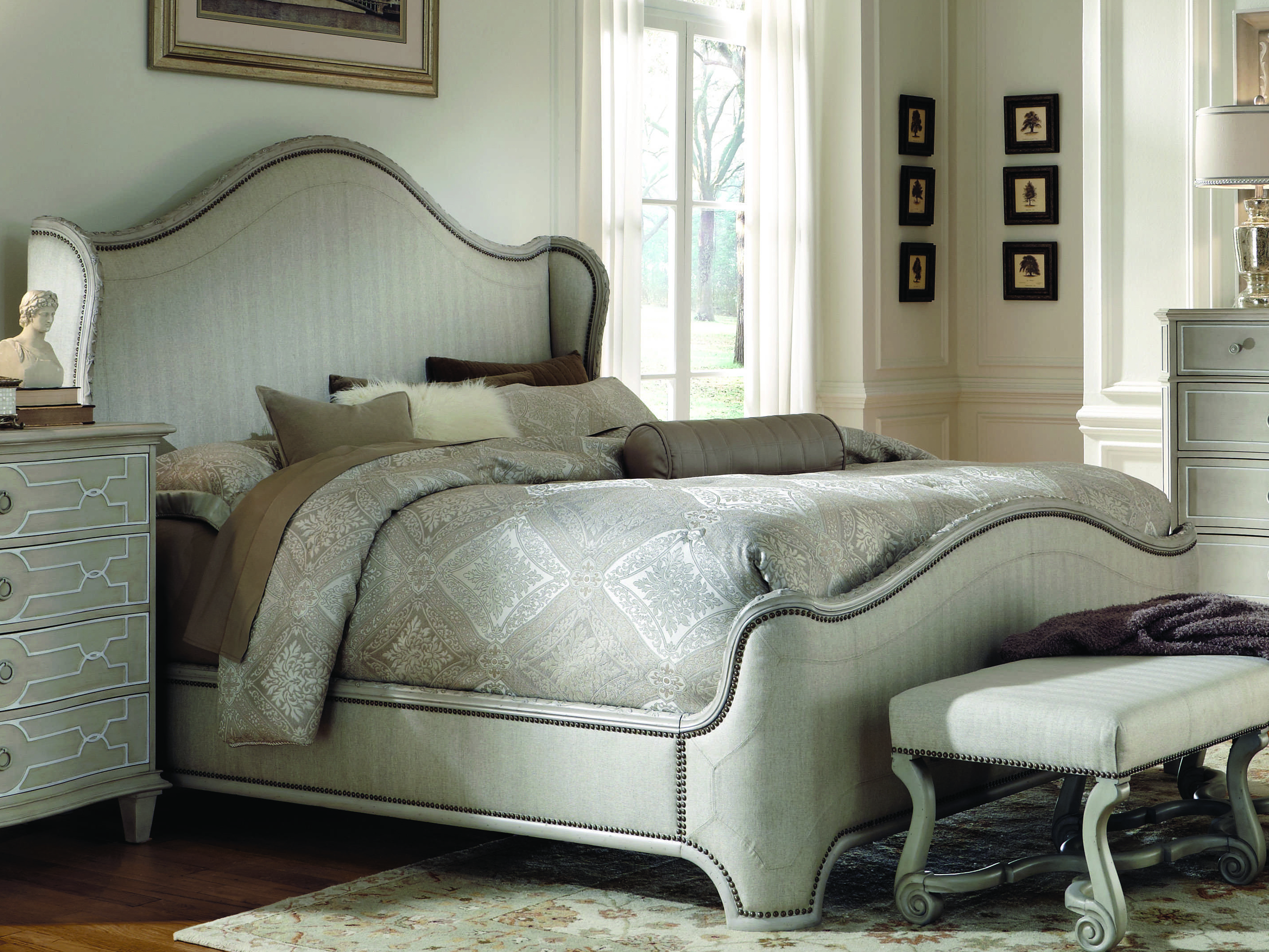 A.R.T. Furniture Chateaux Grey Queen Size Shelter Bed