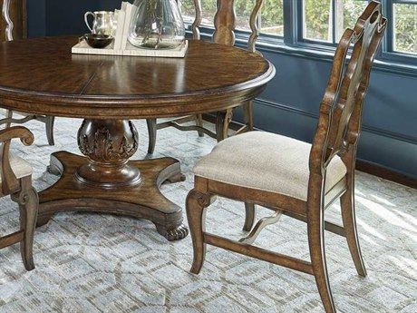 A.R.T. Furniture Continental Weathered Nutmeg Splat Back Dining Side Chair (Sold in 2)