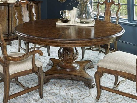 A.R.T. Furniture Continental Weathered Nutmeg 66'' Wide Round Dining Table AT2372252624