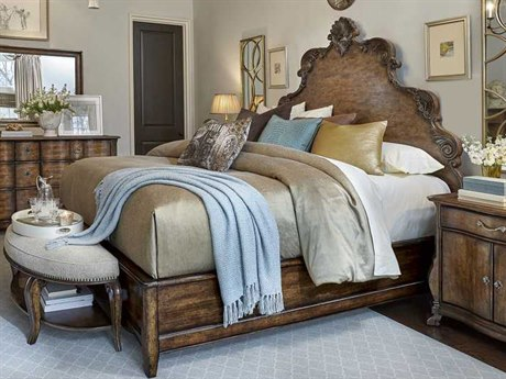 A.R.T. Furniture Continental Weathered Nutmeg King Size Panel Bed