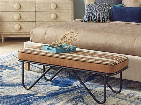 A.R.T. Furniture Epicenters Austin Blackhawk Pipe Accent Bench