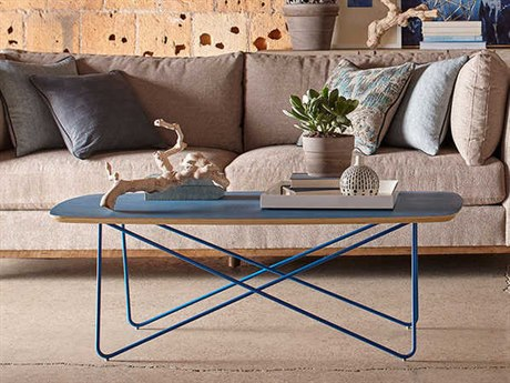 A.R.T. Furniture Epicenters Austin 6th Street Washed Blue 50''L x 24''W Rectangular Cocktail Table