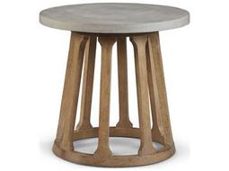 Epicenters Austin Fountainwood Natural 26'' Wide Round End Table