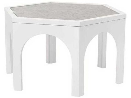 A.R.T. Furniture Epicenters Gloss White 30'' Wide Hexagon Coffee Table AT3313022617