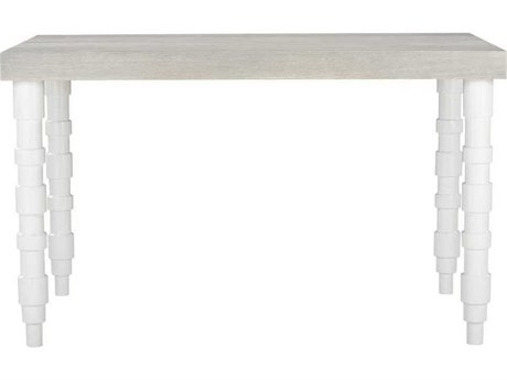A.R.T. Furniture Epicenters Gray Wash/Gloss White 60'' Wide Square Counter Height Dining Table AT3312362840