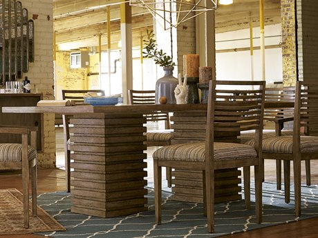 A.R.T. Furniture Epicenters Reclaimed Pallet 88''L x 46.5''W Rectangular Double Pedestal Dining Table AT2232212302