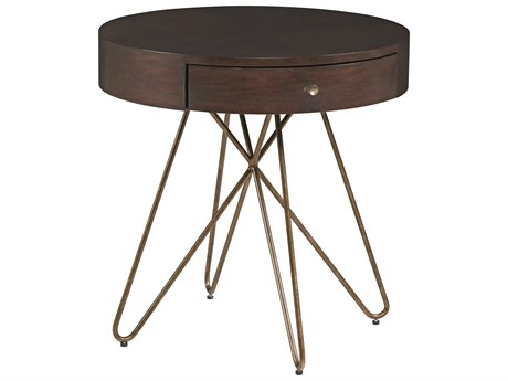 A.R.T. Furniture Epicenters Mid-Century Walnut 28'' Wide Round End Table