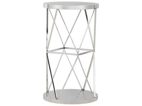 A.R.T. Furniture Epicenters Nickel 14'' Wide Round End Table AT3313681227