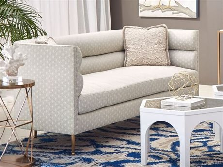 A.R.T. Furniture Epicenters Soft Gold Stone Loveseat Sofa