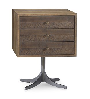 A.R.T. Furniture Epicenters Reclaimed Pallet 20'' Wide Square Pedestal Table AT2233042302