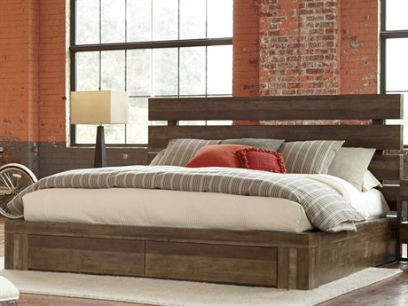 A.R.T. Furniture Epicenters Reclaimed Pallet Eastern King Size Williamsburg Platform Storage Bed AT2231262302