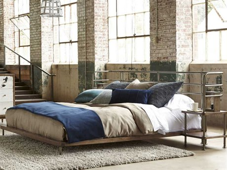 A.R.T. Furniture Epicenters Light Oak Queen Size Factory Platform Bed with 2 Nightstands
