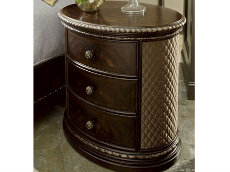 A.R.T. Furniture Gables 18th Century Cherry 32''W x 22''D Oval Nightstand AT2451411707