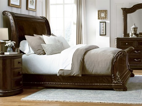 A.R.T. Furniture Gables 18th Century Cherry Queen Size Sleigh Bed