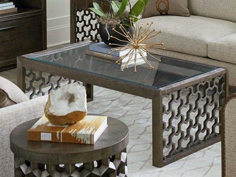 A.R.T Furniture Geode Kona and Facet 50''L x 27''W Rectangular Tanzanite Cocktail Table AT2383002303