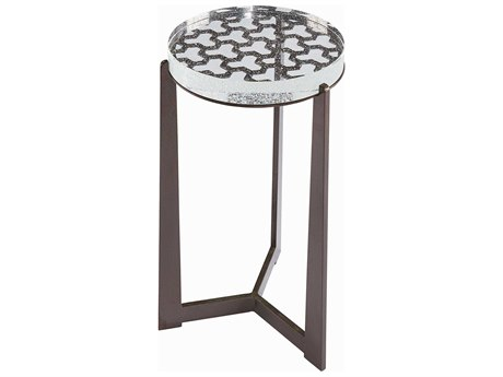 A.R.T Furniture Geode Crystal Spot & Tumbled Bronze 14'' Wide Round End Table AT2383630027