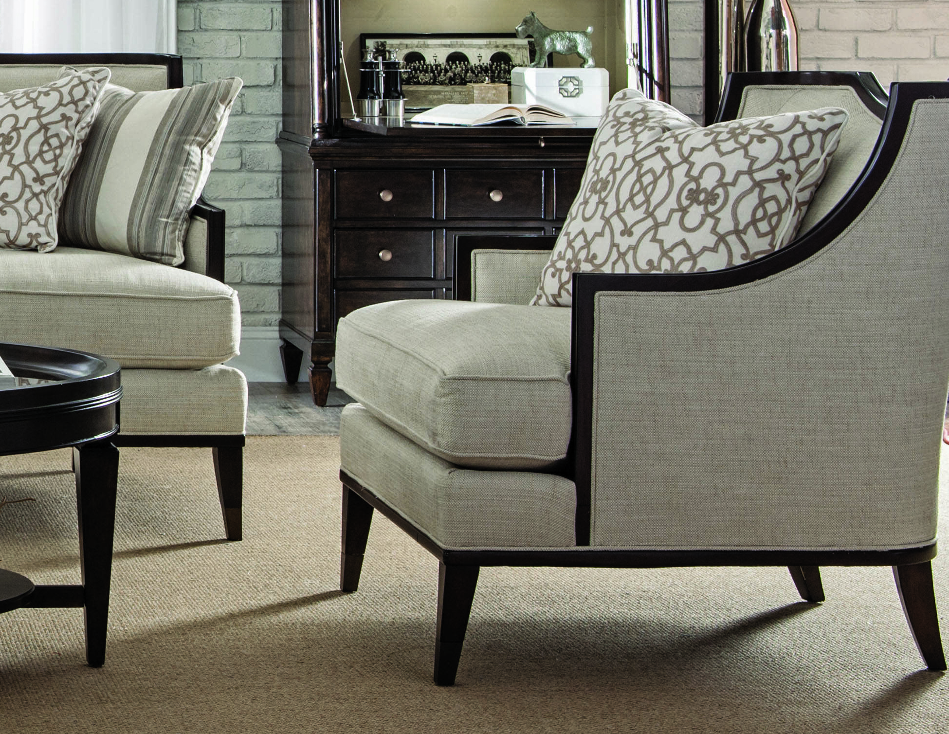 A R T Furniture Harper Ivory Mink Accent Chair