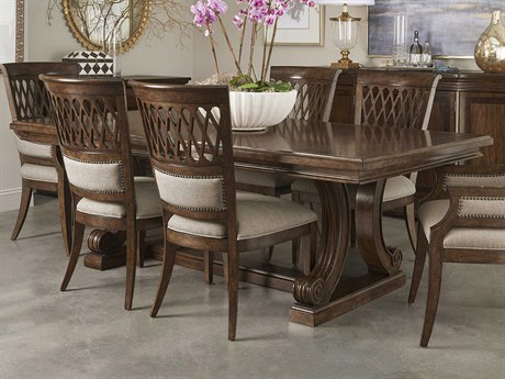 A.R.T. Furniture Kingsport Medium Oak 112'' Wide Rectangular Dining Table with Extension