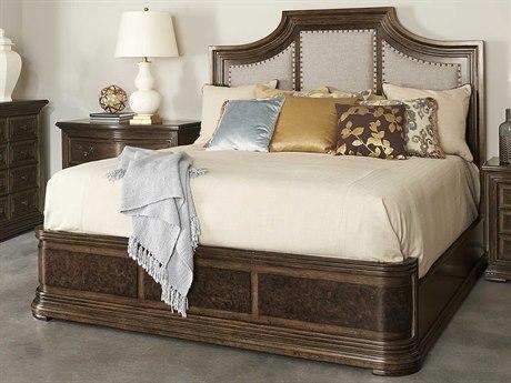 A.R.T. Furniture Kingsport Medium Oak Upholstered Queen Panel Bed