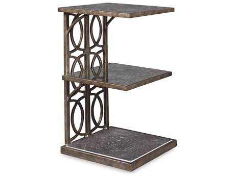 A.R.T. Furniture Marni Antique Textured Metal 18''L x 12''W Rectangular End Table