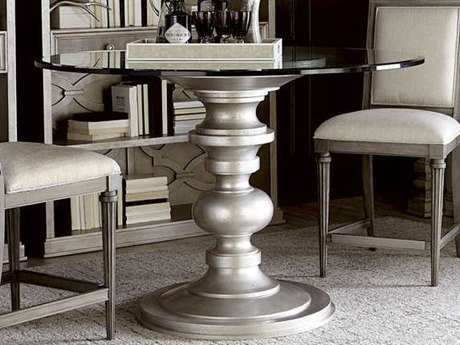 A.R.T. Furniture Morrissey Bezel Silver Round Dining Table AT218225272754