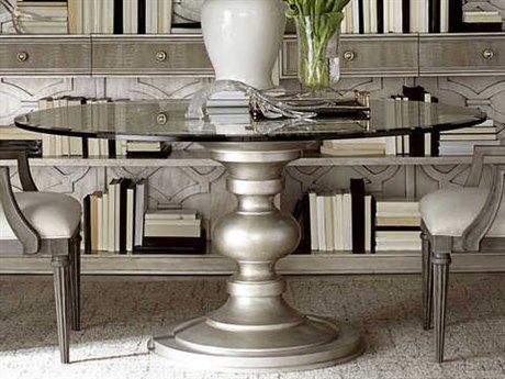 A.R.T. Furniture Morrissey Bezel Silver Round Dining Table