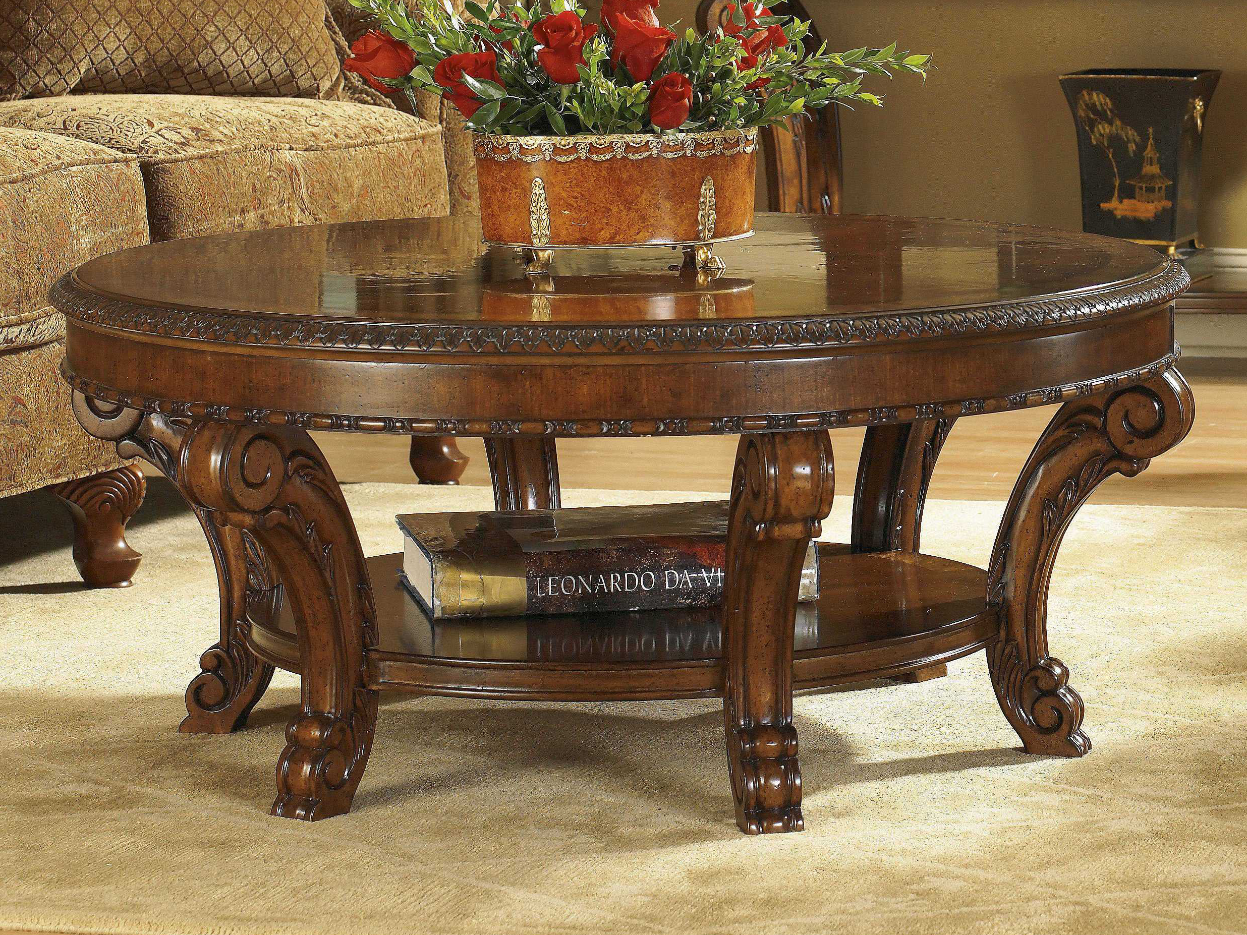 A R T Furniture Old World 44 Round Tail Table 143302 2606