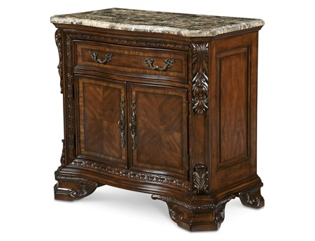 A.R.T. Furniture Old World 37 x 19.5 Rectangular Stone Top Door Nightstand