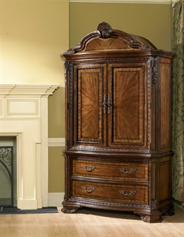 A.R.T. Furniture Old World Medium Cherry Pomegranate Wardrobe Armoire